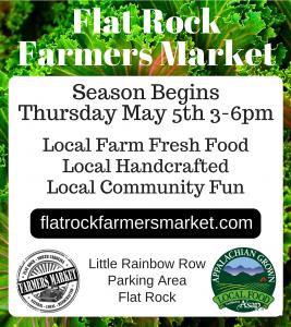 Flat Rock Farmers Market-Season Begins